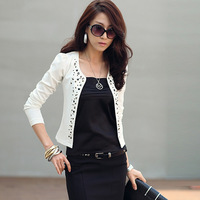 2013 plus size blazer ol cardigan rhinestones fashion coat long-sleeve short jacket female