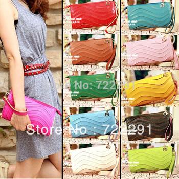 12 Colors Free Shipping 2013 Multi candy Color Sweet Women's Handbag Day Clutch Bag Messenger Bag Handbag Women Bag Hot Sale