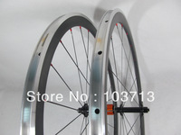 bicycle carbon wheels with aluminium brake with Sapim spoke only 1410g superlight