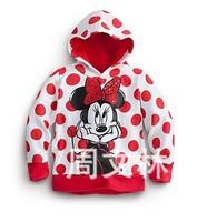 2014 new minnie hoodies children cute girl's coat spring outerwear kid's wear cartoon sweatshirt free shipping