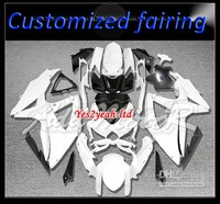 White black 2299 for suzuki K8 GSXR600 GSXR750 08 09 10 GSX-R600 750 2008 2009 fairing + windscreen