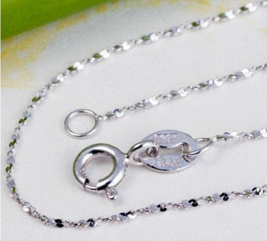 Vente en gros 100% réel 925 pure collier en argent sterling. Top qualité joaillerie livraison gratuite 5pcs/lot, nl-15a