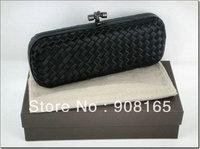 high quality black silk women clutch handbags,lady fashion bag. evening bags free shipping