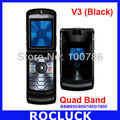 original RAZR V3 unlocked cell phone Quad Band support Poland Russian language and Russian keyboard Free Drop Shipping(Hong Kong)