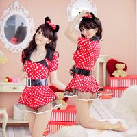 Midnight glamour lingerie bar game uniforms clothing costume Secretary put students ' uniform  Mickey put  free shipping