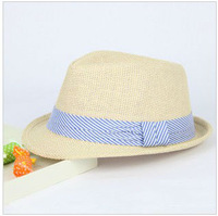 The Novelty of Summer 2013 Free Shipping Top 10pcs/lot Straw Jazz Hat Children Outdoor Stripe Caps Sun Hat Baby Headwares297