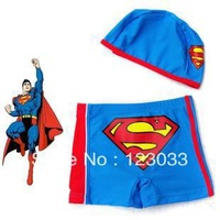 Spa superman super man swim trunks baby boy swimming trunks male child swimwear baby
