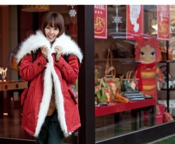 Free shoppingNew winter leisure lamb fur collar lapel coat padded jacket winter female cotton-padded jacket 8027 D827
