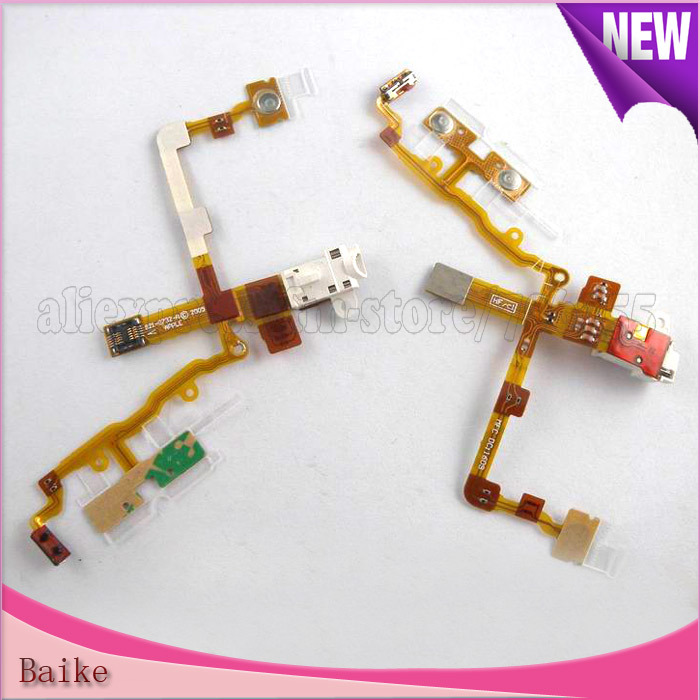 Headphone Audio Jack Ribbon Flex Cable For iphone 3GS Black or white 100% Gurantee Free shipping(China (Mainland))