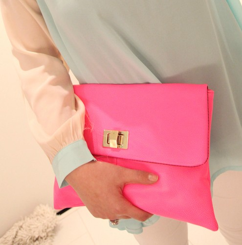 Free shipping Kogirl customize summer occulting day clutch pink one shoulder cross-body(China (Mainland))