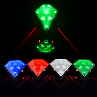 6pcs/lot Diamond mountain ride bike bicycle laser rear light Rechargeable 2 Red Laser Beam 8 LEDs Bulbs Taillight Free Shipping