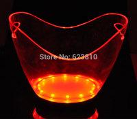Large Size 10l led flash light  colorful  champagne bucket ice-pail  ice bucket   champagne bucket extra large beer ice-pail