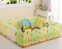14+2 3m*m square  kids plastic Child fence game fence playpen crib baby fence ice cream