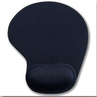 Free shipping, 5pcs Black Mouse Pad Mat With Wrist Rest for Optical Mouse. Faint Fragrance, EA055