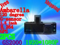Free shipping Original GS2000 Car Cameras Full Hd 1920x1080p 30fps With GPS Logger And G-Sensor GS2000(GH-02)