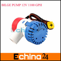 12V SUBMERSIBLE 1100 GPH Semi-Automatic Fishing Boat Bilge Water Pump with Retail Box and Manuel Free Shipping