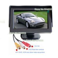 4.3inch car LCD car Monitor 16:9 AV1 less than AV2 Video switch backup car monitor TFT hd 480*234 car monitor Free shipping
