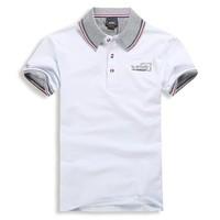 Free Shipping  fashion popular  Short Sleeve Men's 100% Cotton Slim fit Stylish T Shirts T-shirts Size M L XL XXL  XXXL