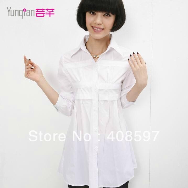 White Cotton Blouses Plus Size 9