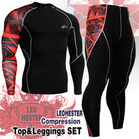 {No.JSYCPB2} FIXGEAR  Polyester High-quality Compression Cycling/Sports Base Layer Long Sleeve Jersey T-shirt & Pants / Tights