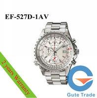 Luxury Watch Mens EF-527D-1AV Hardlex Glass Dive Watches Sport Wristwatch WR 100m White Dial Free Ship With Original box