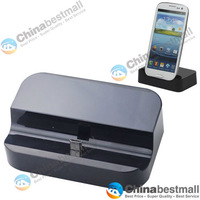 Universal Micro USB Data Sync/Charger Dock Docking Station for Samsung Smartphone - Black