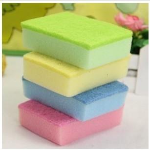 Wholesale Free shipping Multicolour nanometer square kitchen cleaning sponge Magic washing/wash Sponge Eraser sponge scourer
