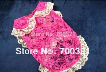 Free Shipping Vivian Rose Lace Dog Shirt Pet Clothes
