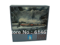 Snow night(1000pcs puzzles) -Free shipping!!!NEW jigsaw puzzle game