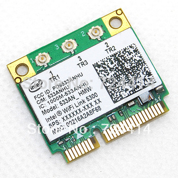 Intel 5300 AGN Wireless Wifi 802.11a/b/g/Draft-N1 450 Mbps Half Mini PCI-E Card for IBM Thinkpad Lenovo