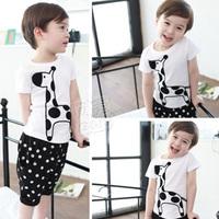 2013 summer boys clothing baby child short-sleeve capris set tz-0693  (CC019)