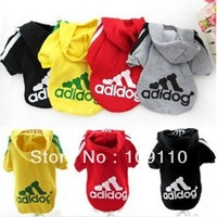 Wholesale Fashion star pet clothes,Pet Hooded coat,Dog jacket/Tshirt,Pet Outerwear,pet Sweater S-XXL black/red/gray/yellow20/lot