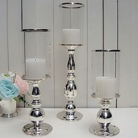 100%Silver plated metal furniture furnishing articles wedding candlesticks