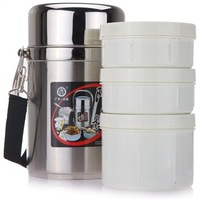 free shipping 2.2L Vacuum lunch box stainless steel lunch box leakproof bucket insulation pot WITH SMALL TOOL GIFT