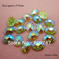 Free Shipping-Green 200pcs super shine Nail Art Decoration glitter stone