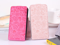 Wholesale PU leather Smart case for iphone 5  Magic girl Flip Cute sweet cover housing replacement Thin back  FREE SHIPPING
