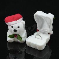 Free Shipping Wholesale 12pcs/lot 4.6x4x3.8cm Lovely Bear Popular Gift Box Decorated Box Jewelry Box