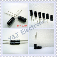 wholesale 200PCS/LOT 22uF 50V Electrolytic Capacitor 5 x 12mm FREE SHIPPING