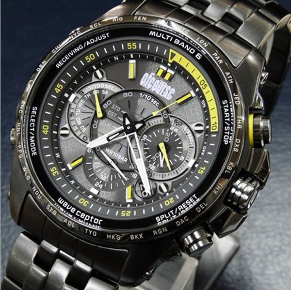 1Pcs Free Shipping Hot Selling Solar Black Steel Men Watches With Box Of042312(China (Mainland))