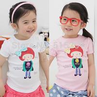2013 summer doll girls clothing baby child short-sleeve T-shirt tx-1622  (CC001)