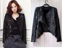 Free  shipping Free shipping Free shipping Women's design short slim motorcycle clothing PU clothing leather jacket coat