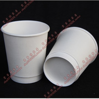 Disposable cup thick double layer white cup insulated glass milk tea paper coffee cups 250ml100