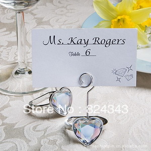 FREE SHIPPING+Heart Shaped Engagement Ring Place Holders +50pcs/LOT+Very Good For Wedding Favors(China (Mainland))