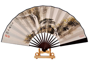 Paper folding fan customize hand painting fan fan painting business gift chinese style fan