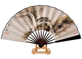 Paper folding fan customize hand painting fan fan painting business gift chinese style fan