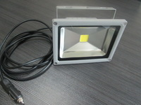 Free Shipping 20W DC 12V LED Flood Light Wash Outdoor Pure White/warm white New Powerful Chip+car charger