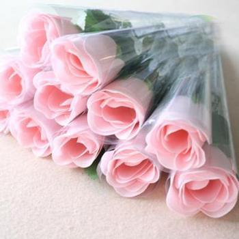 Free shipping Wholesale High quality Rose flower soap,Handmade wedding soap 24pcs/lot