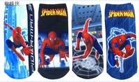 Free shipping Spiderman Children boy's sock,kid's socks,famous cartoon character socks,cartoon children cotton Socks