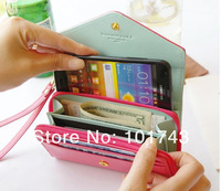 New multifunction women wallets, Coin Case purse for iphone Galaxy,case for iphone 4/5 wallet, free shipping/drop shipping