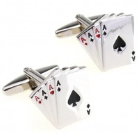 Cards Cuff Link 3 Pairs Free Shipping Crazy Promotion